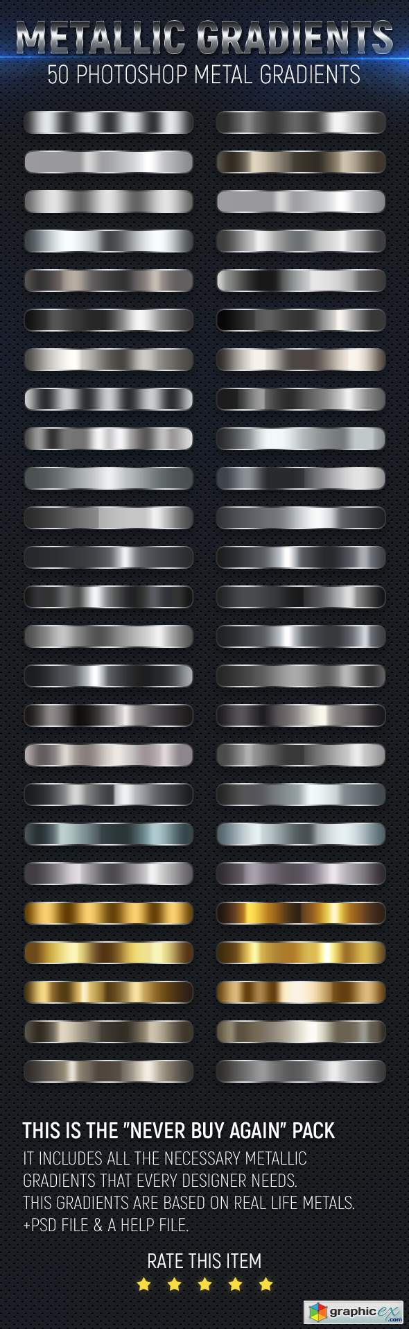 50 Metal Gradients