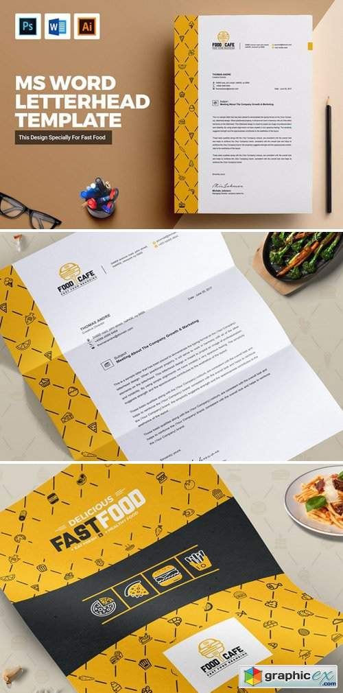 Creative Letterhead Template Word Free Download Vector
