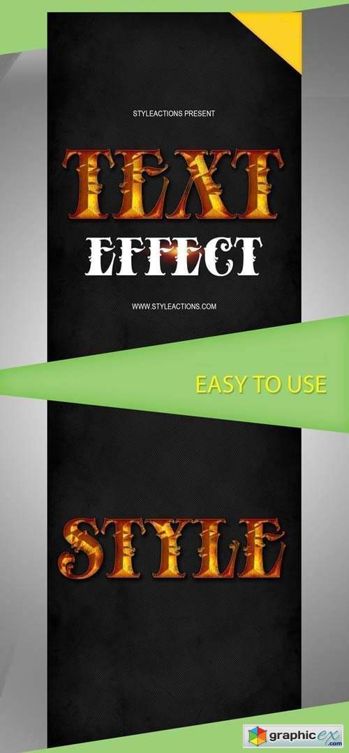 Text Effect V1 Photoshop Action