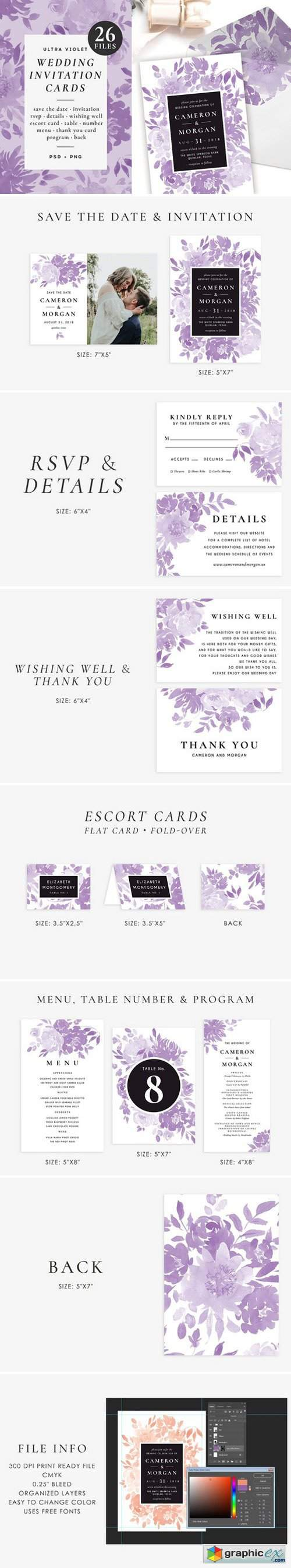 Ultra violet wedding set