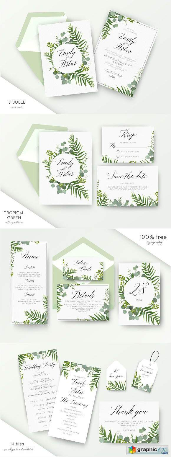 Wedding collection - Tropical green