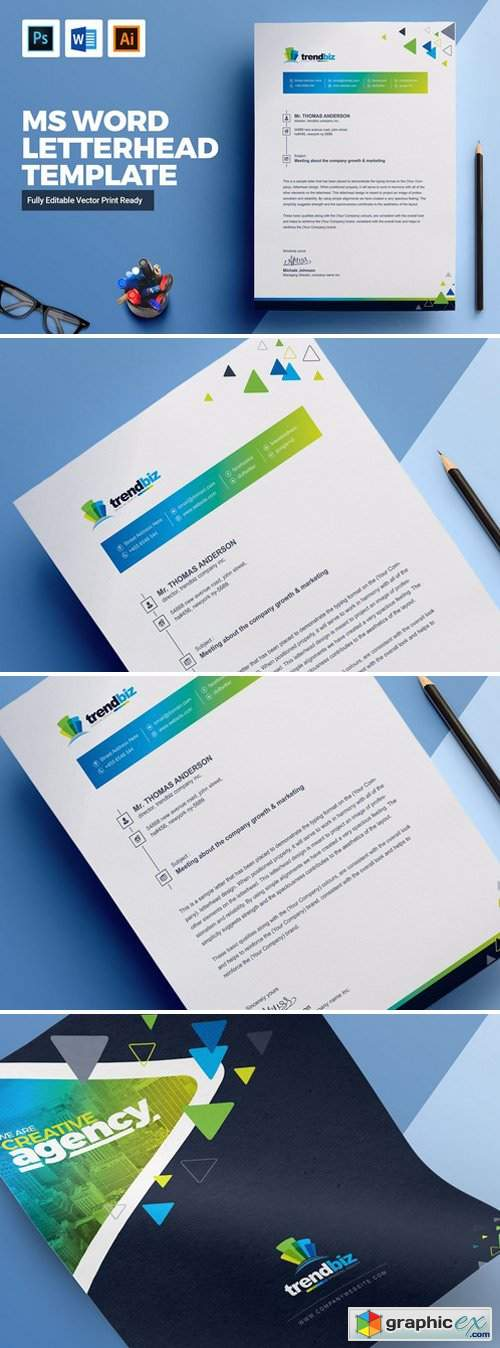 Corporate MS Word Letterhead