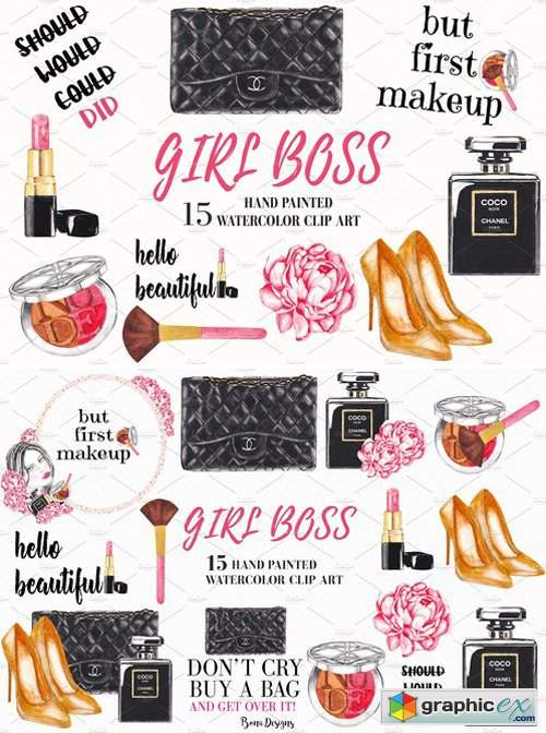 Fashion, Girl Boss, Cosmetic Clipart