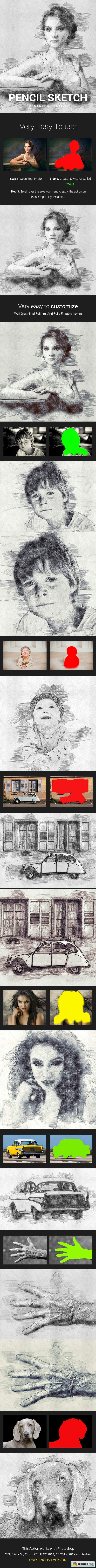 Pencil Sketch Photoshop Action Photo Effects