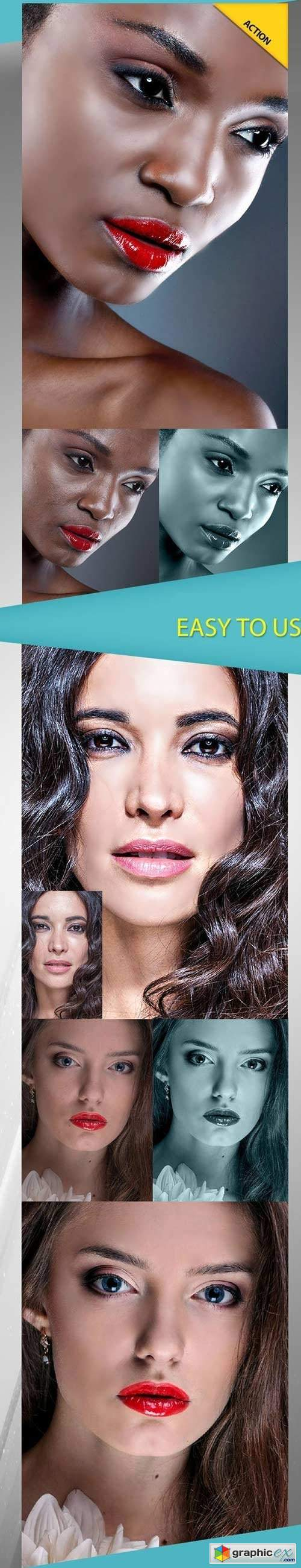 Beauty skin v1 2018 photoshop action