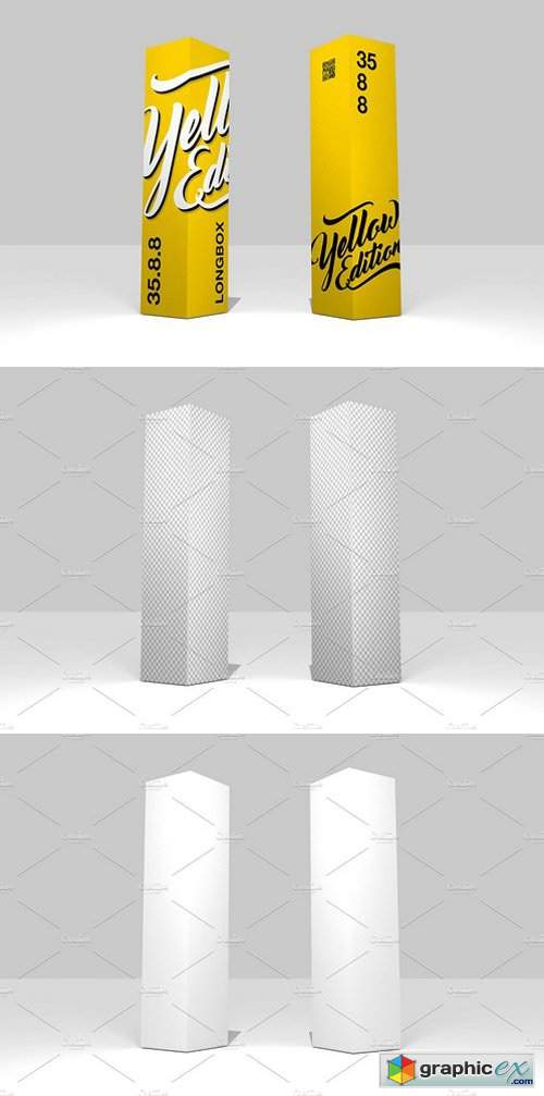 35 8 8 Simple 3D Box Mockup » Free Download Vector Stock