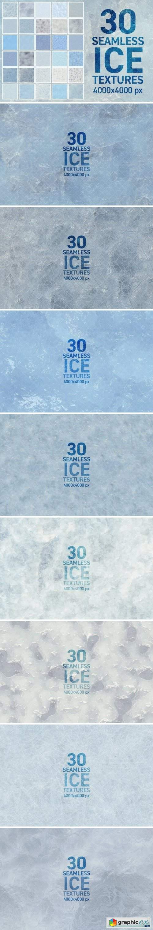 30 Seamless Ice Textures