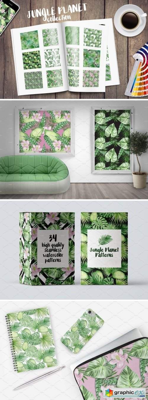 Jungle Planet Patterns