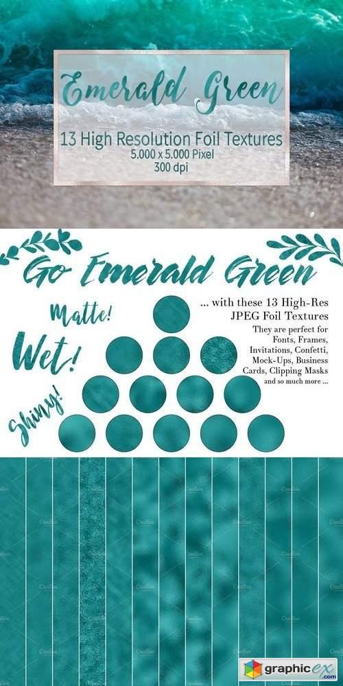 Emerald Green Foil Textures 1309238