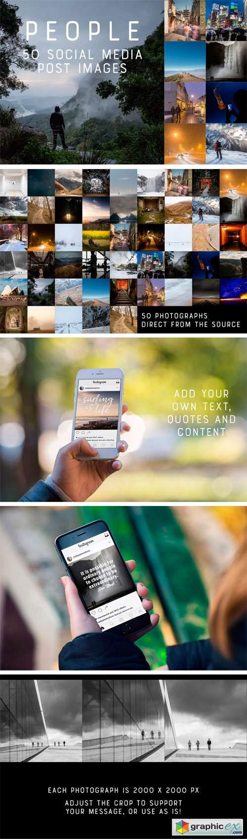 50 Social Media Backdrops - People