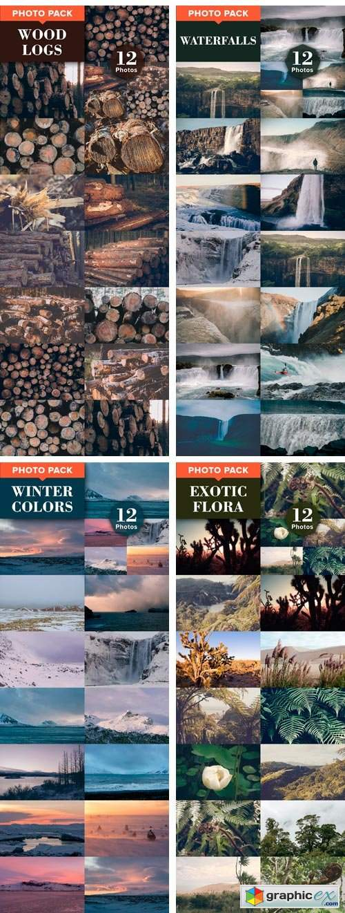12 Photo Packs - 144 Nature Photos