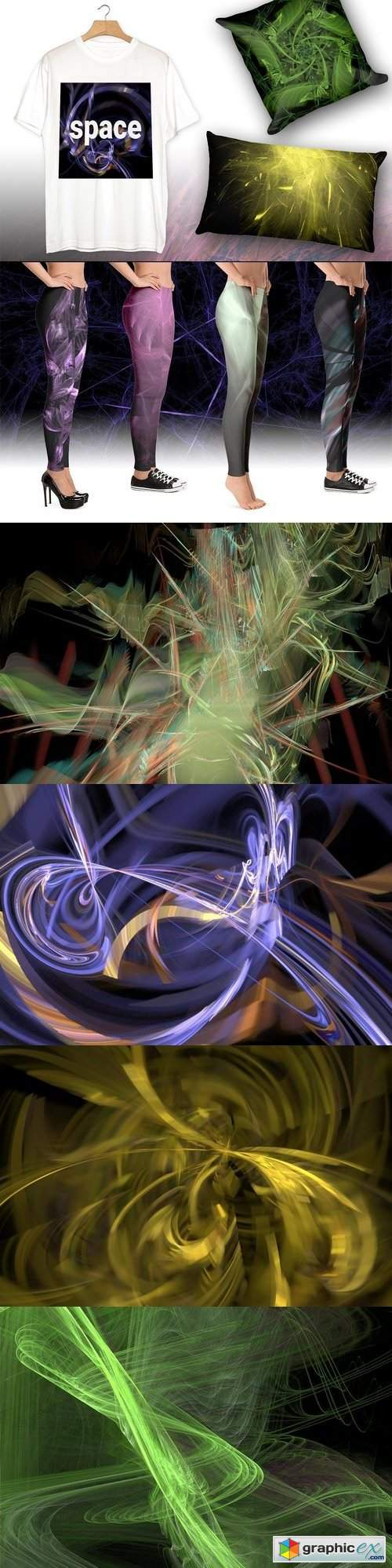 Abstract fractal 500 backgrounds