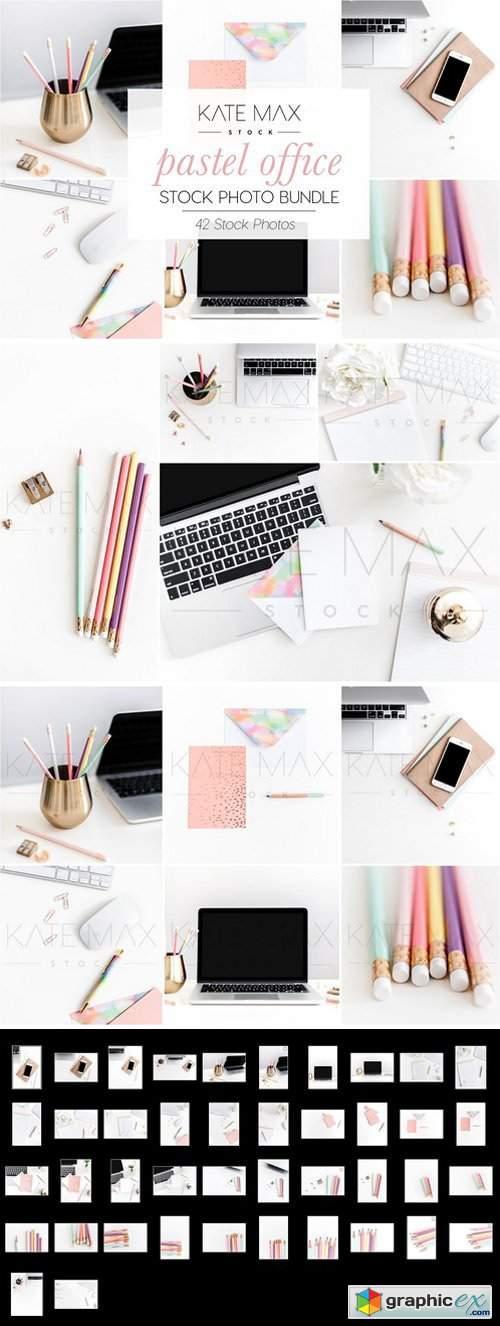 Pastel Office Stock Photo Bundle