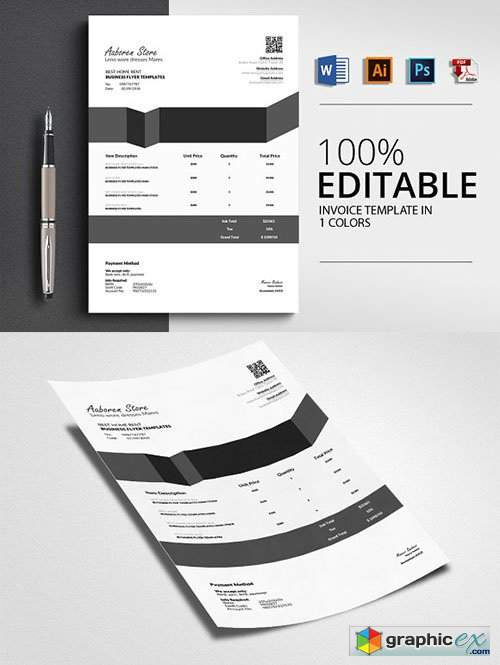 Word Invoice Templates 4 Formats