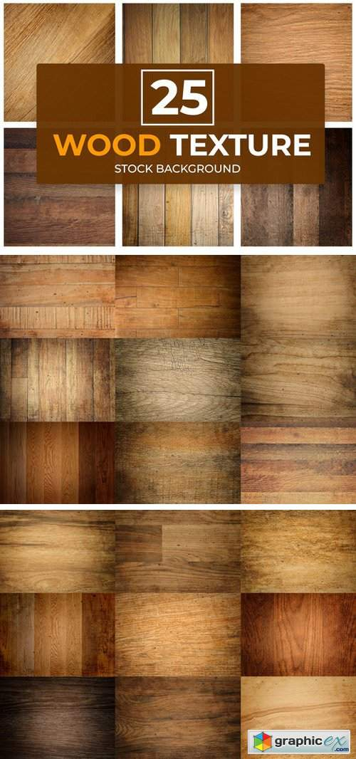 25 Wood Texture Background