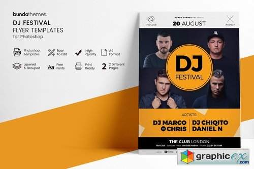 DJ Festival Flyer Template