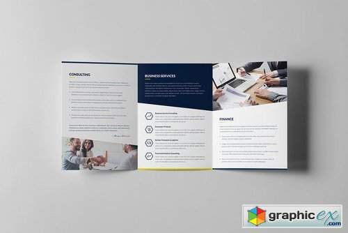 Finance and Business – Brochures Bundle Print Templates 8 in 1