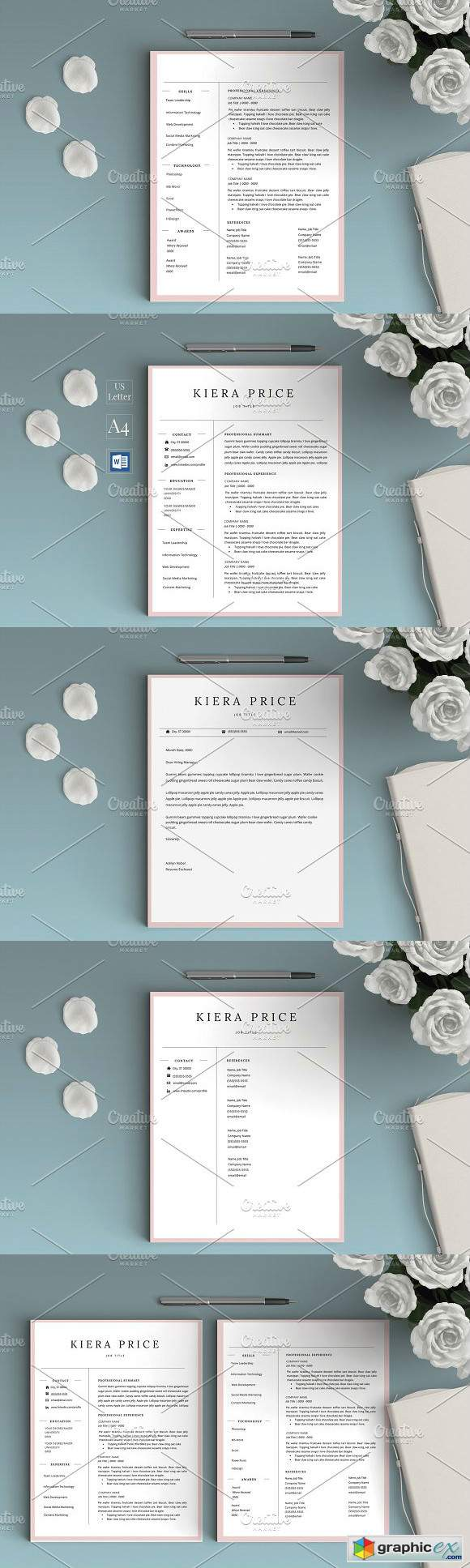 Word CV Resume - Kiera