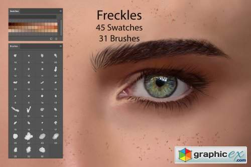 FrecklesSwatches for DigitalPainting