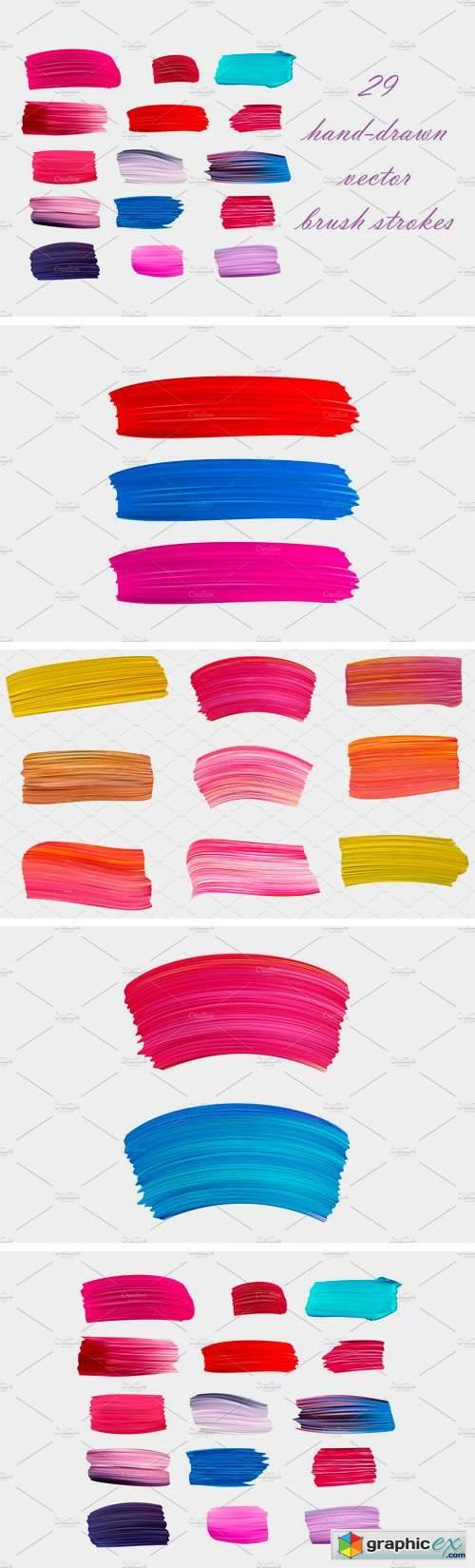 Hand-Drawn Vector Brush Strokes