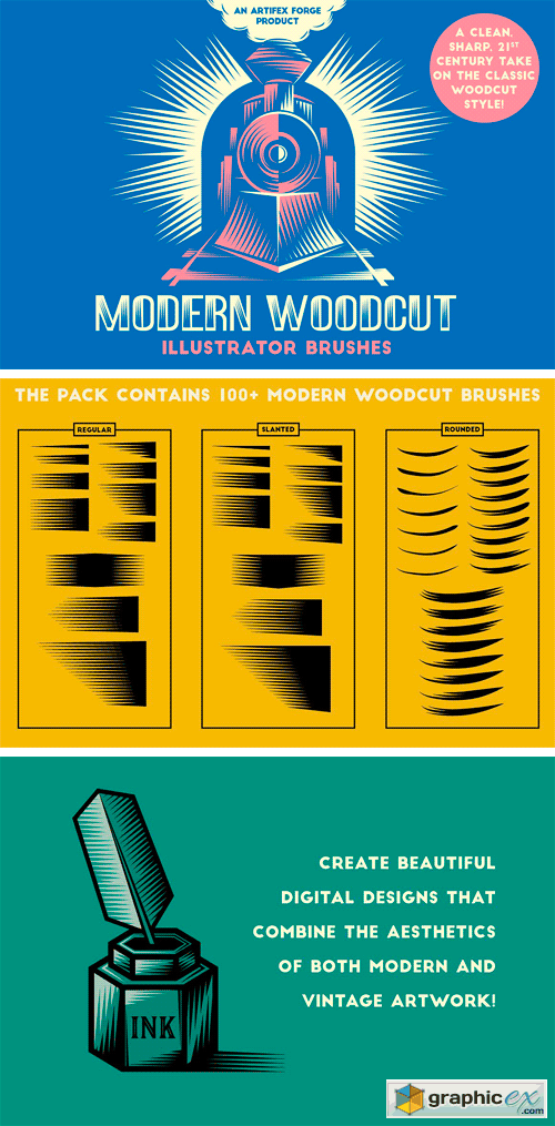 Modern Woodcut Brushes