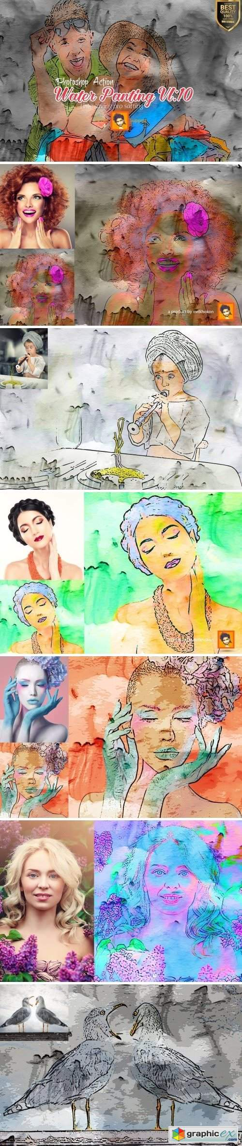 Water Panting Photoshop Action Vl 10