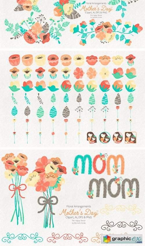 Mother's Day Clipart and Vector Grap