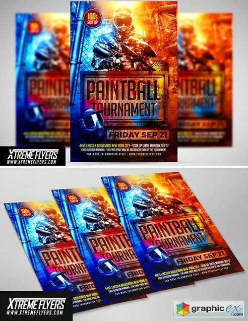 Paintball Flyer Template 2430367