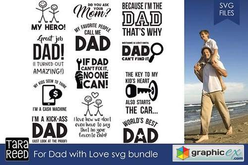 For Dad with Love SVG Bundle
