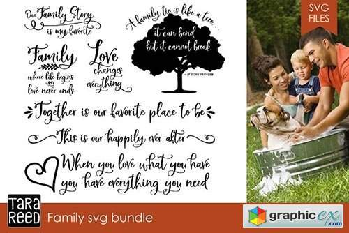Family Svg Bundle 187 Free Download Vector Stock Image