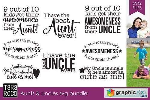 Aunts and Uncles SVG Bundle