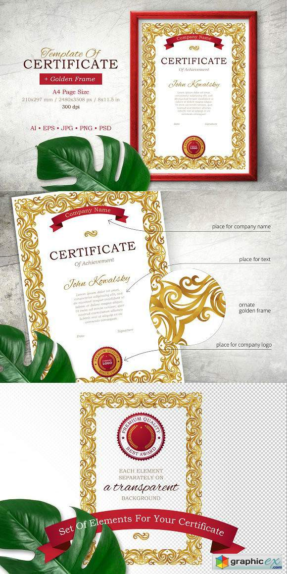Template Of Certificate Vol.1