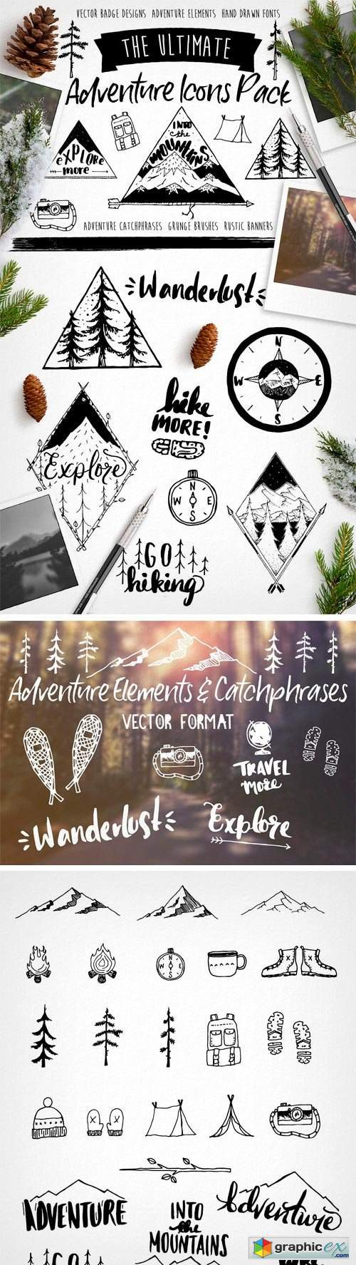Hand Drawn Adventure Design Elements