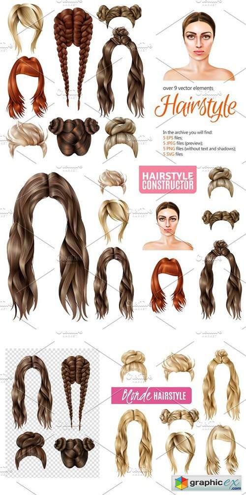 Sale! Female Hairstyle Set