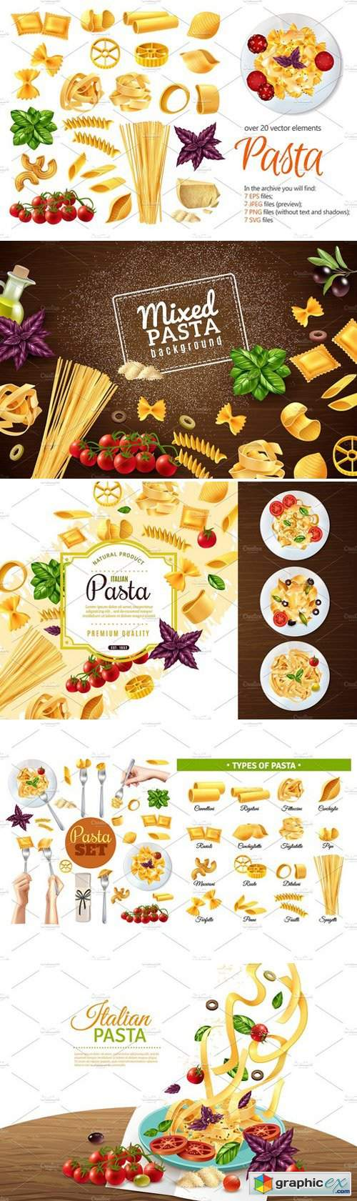 Sale! Pasta Realistic Set