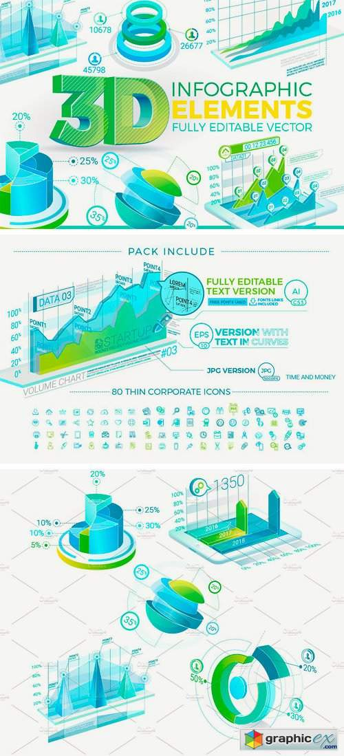 3D Corporate Infographic Elements 2244593