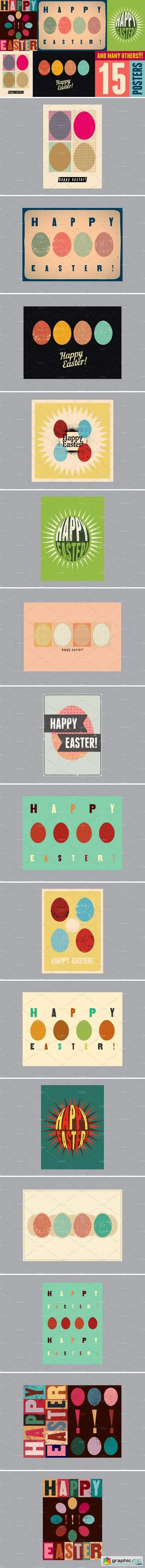 Typographic Easter greeting card
