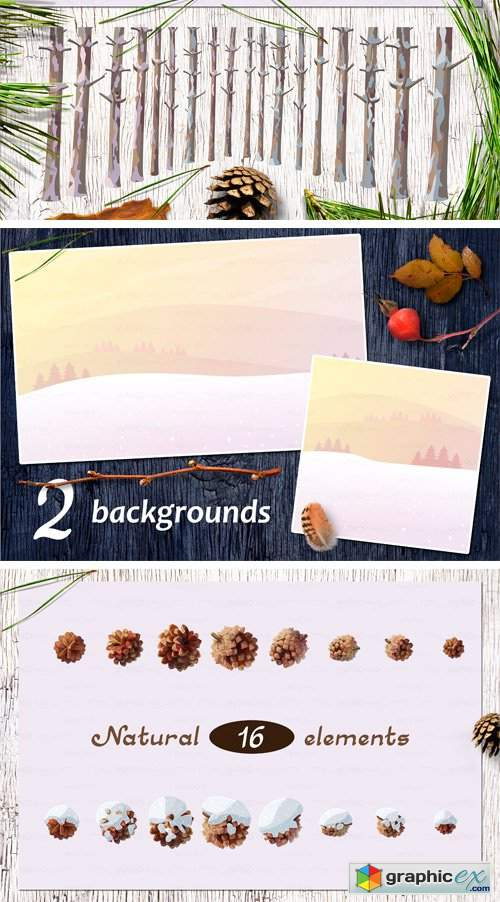 "Vector SET ""Pine Tree"""