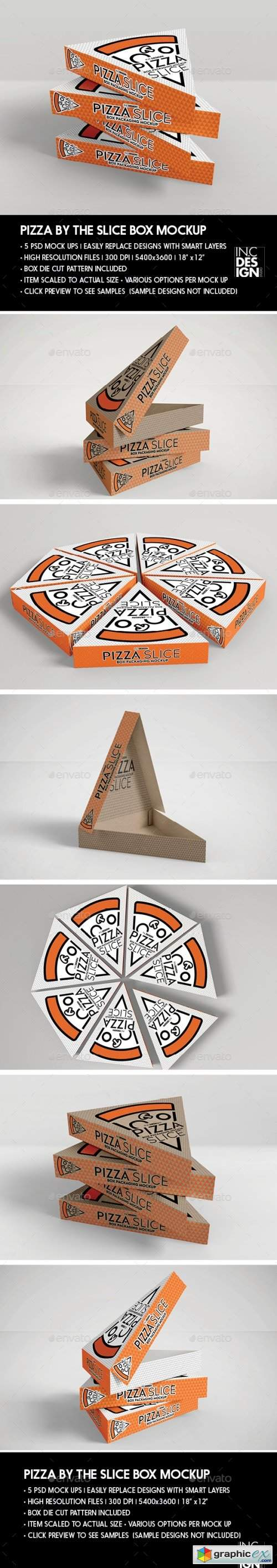 Packaging Mockup Pizza Slice Box