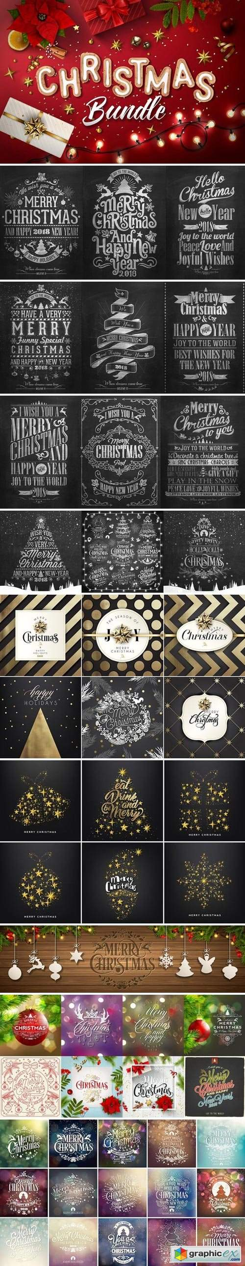 Christmas & New Year Vector Bundle!