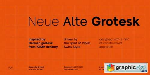 Neue Alte Grotesk Font Family » Free Download Vector Stock Image