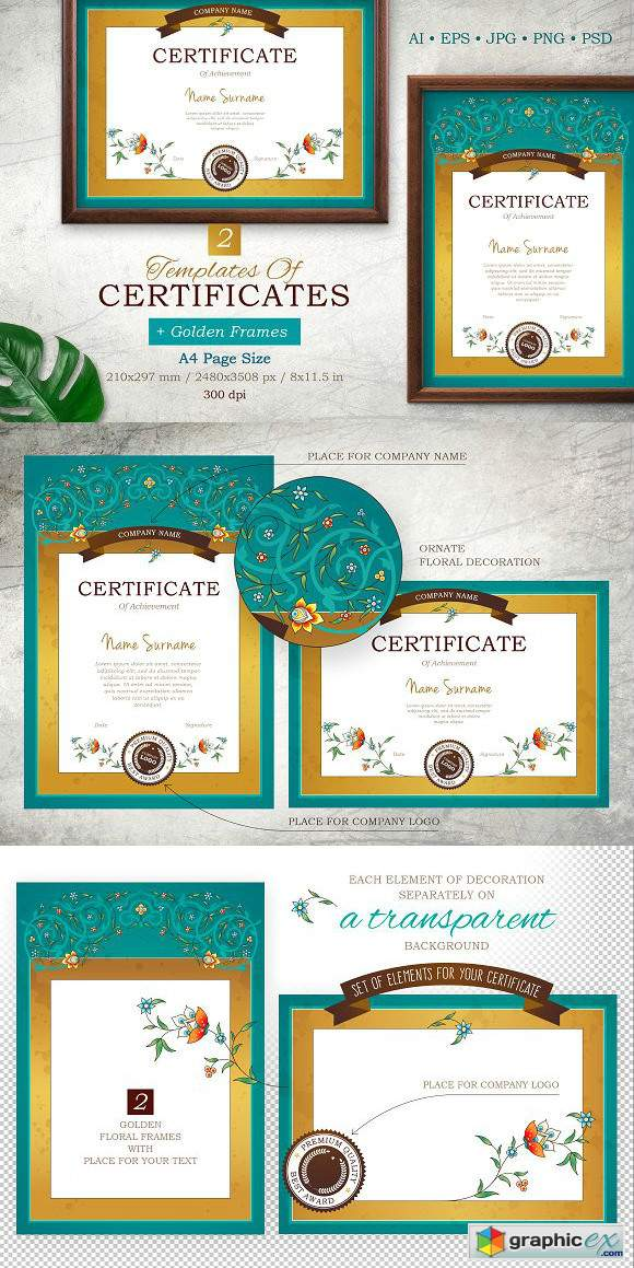 Templates Of Certificate&Frame Vol 3