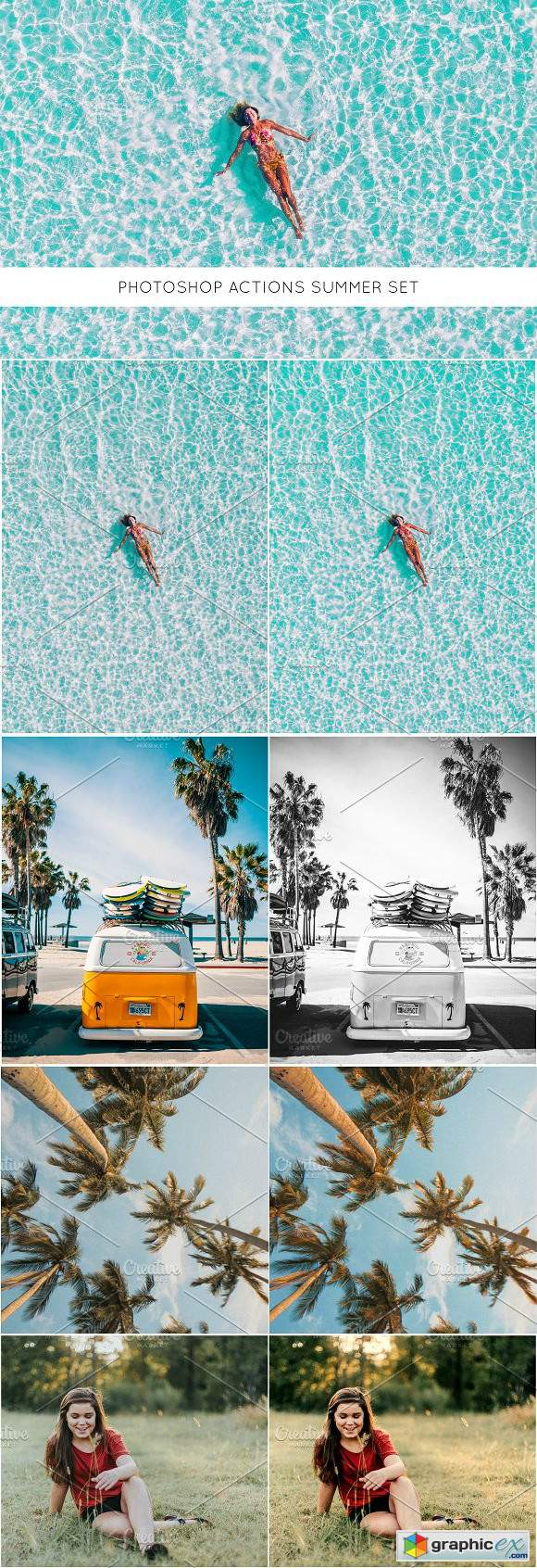 Photoshop actions Summer set