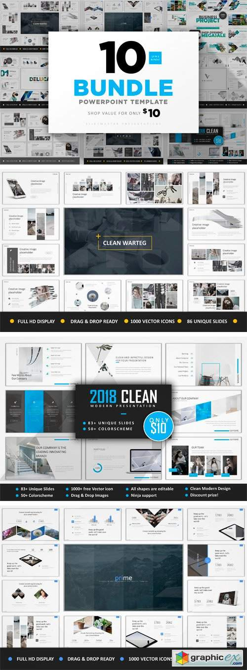 10 in 1 Clean Bundle Powerpoint