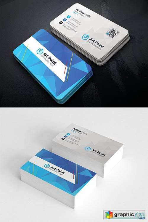 Polygon Background Business Cards 2473861