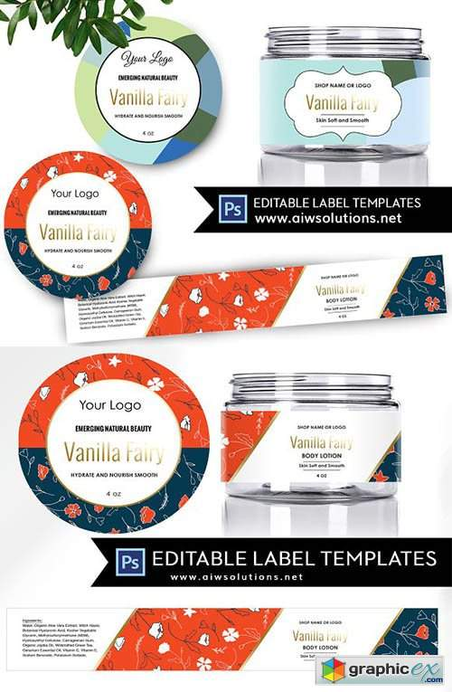 Skincare Label Template ID50