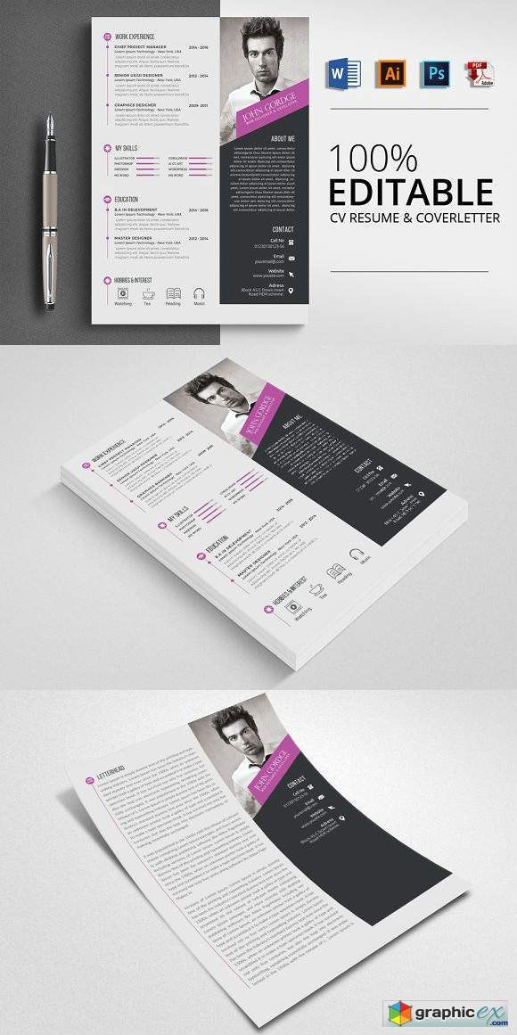 Word Format CV Resume Template