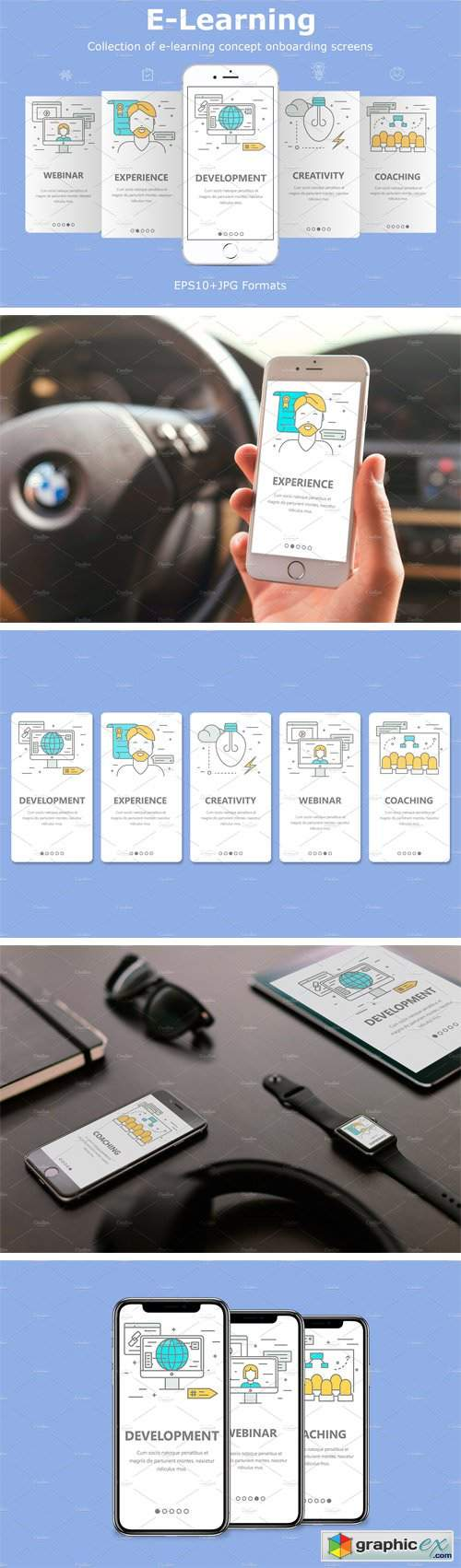 Mobile App Onboarding Screens