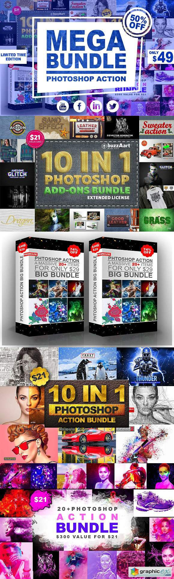 Mega Bundle Photoshop Action