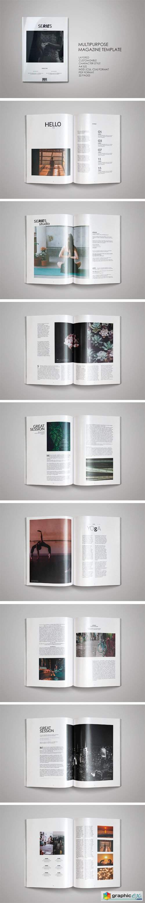 Clean Fashioned Magazine Template